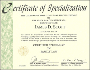 certified family law specialist